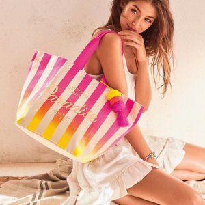 VS Bombshell Paradise Sunset Ombre Canvas Tote Bag